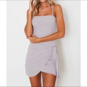 White Fox Fake Love Mini Dress - Grey